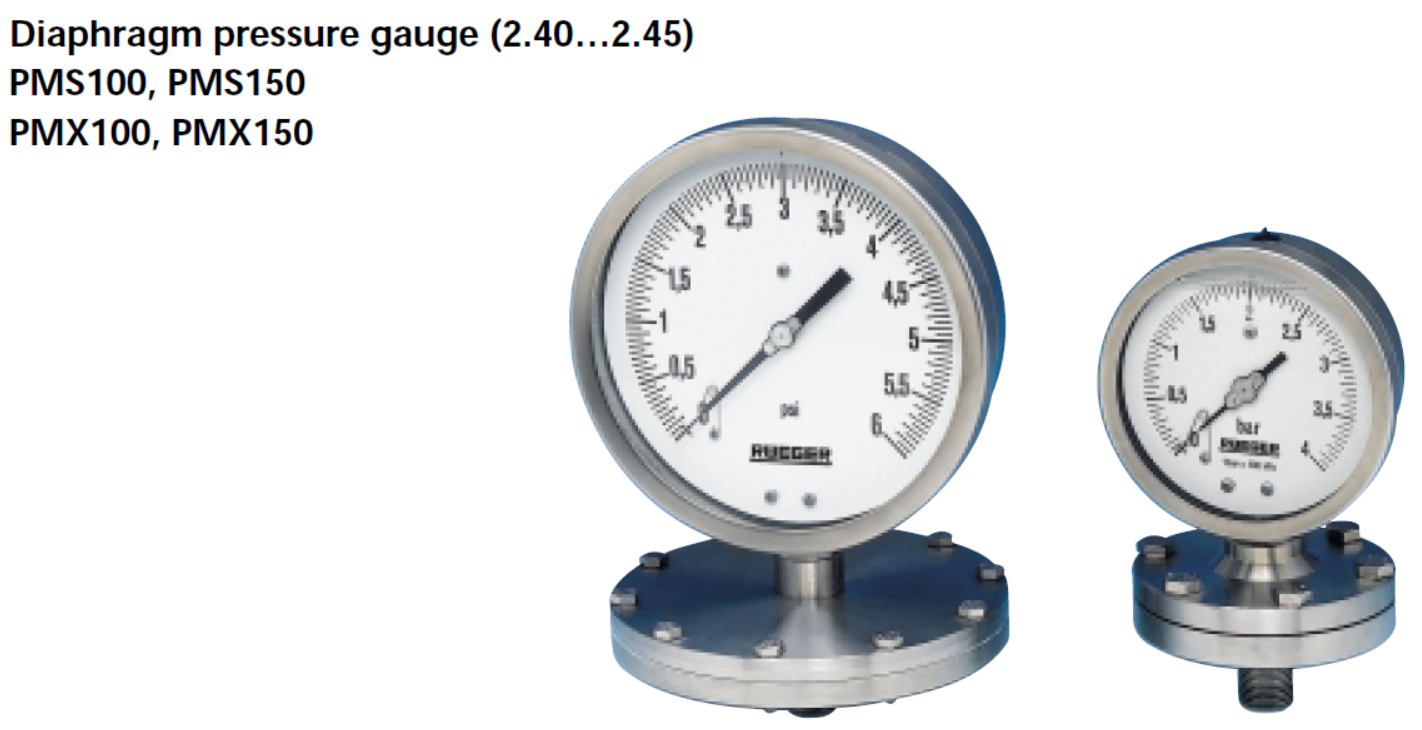 RUEGER - DIAPHRAGM PRESSURE GAUGES